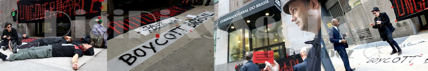 Amazon Emergency Die-in at Brazilian Consulate